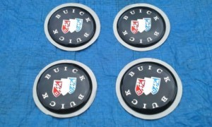 buick tri shield center cap decals