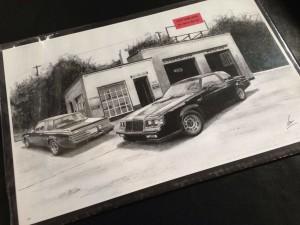 custom art buick garage print