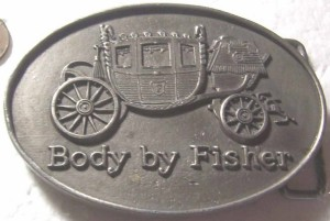 fisher body pewter belt buckle