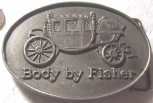 fisher body pewter belt buckle