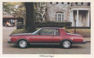 1978 buick regal postcard