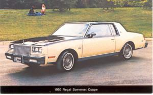 1980 buick regal somerset postcard