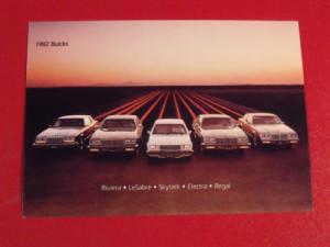 1982 buick lineup postcard