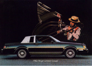 1982 buick regal limited postcard