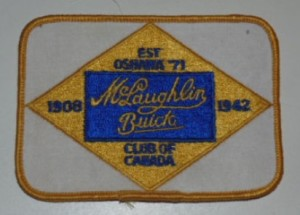 McLaughlin Buick Oshawa Club of Canada Patch