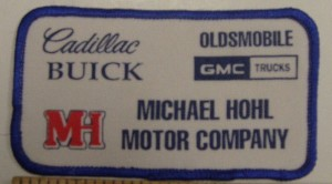 Michael Hohl Motor Company patch
