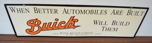 buick 100th anniversary metal sign