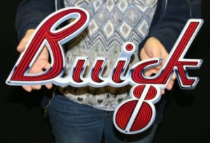 buick 8 steel sign