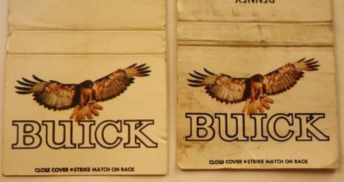 buick dealership matchbook