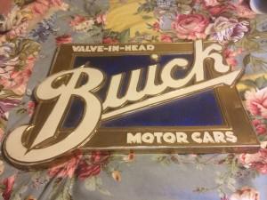 buick motor cars porcelain sign