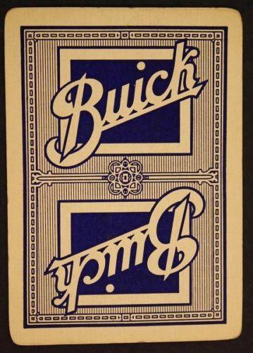 buick motors playing card