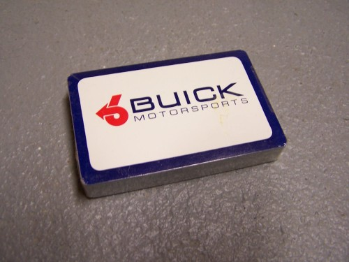 buick motorsports playing cards