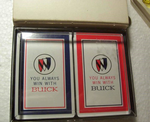 you always win with buick playing cards