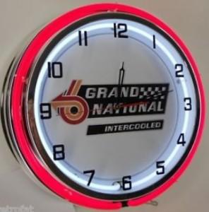 1987 grand national emblem neon clock
