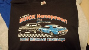 2001 midwest challenge buick horsepower shirt
