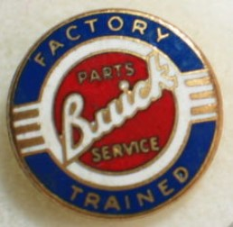 Buick Factory Trained Parts and Service Employee Pin