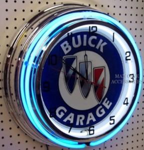 buick garage neon clock