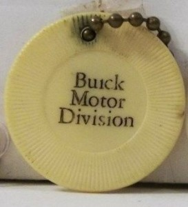 buick motor division poker chip keychain
