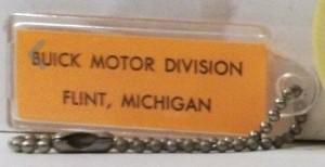 buick motor division tag key chain