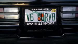 v6 ate your v8 license plate