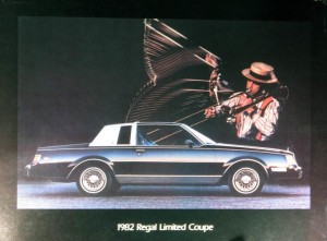 1982 Buick Regal Limited Dealer Showroom Poster