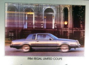 1984 Buick Regal Limited Coupe Dealer Showroom Poster