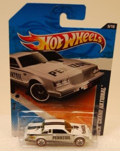 Hot Wheels 2011 Walmart Exclusive Buick Grand National Red line Wheels 2