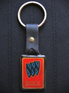 Vintage Leather Strap Buick Key Ring
