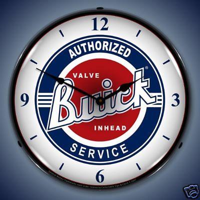 buick service backlit clock