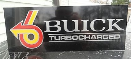 buick turbocharged sign