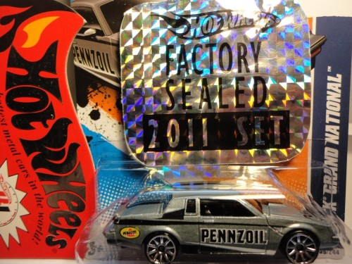 from Hotwheels 2011 Factory Sealed Set 1 of 500 grey pennzoil