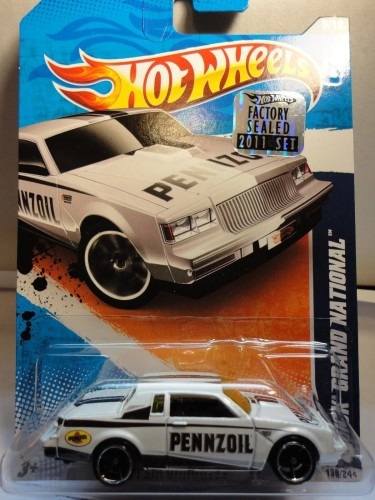 from Hotwheels 2011 Factory Sealed Set 1 of 500 white pennzoil