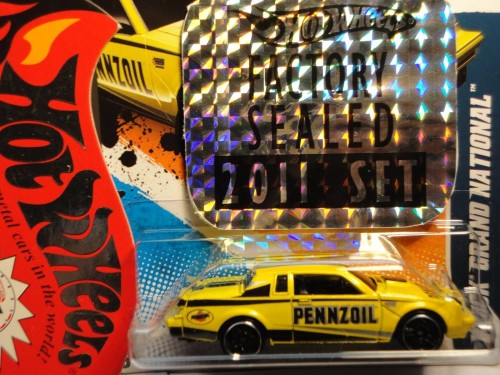 from Hotwheels 2011 Factory Sealed Set 1 of 500 yellow pennzoil 2