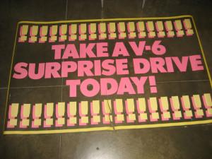 take a v6 drive poster