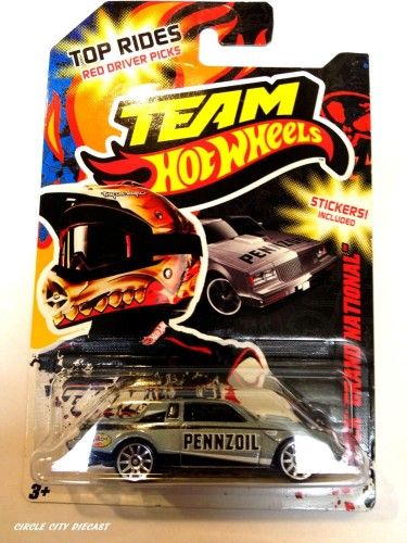 team hot wheels top rides silver pennzoil buick regal