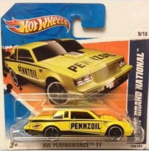 yellow pennzoil HW short card