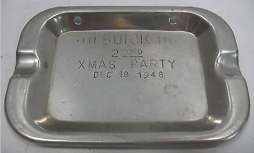 1948 Buick 22nd Xmas Christmas Party Ash Tray
