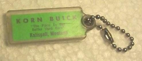 1950s korn buick keychain