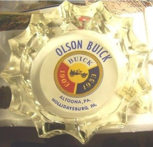 1953 olson buick ashtray