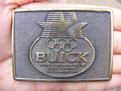 1984 olympics buick belt buckle