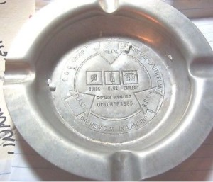1985 BOC ashtray