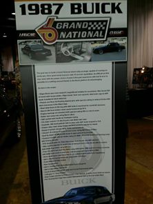 1987 buick gn car show sign