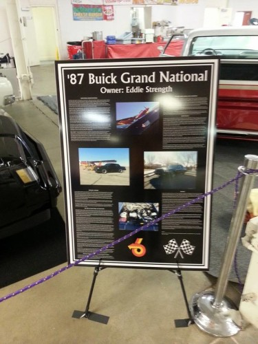 1987 buick grand national car show sign