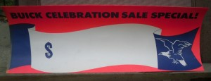 Buick Celebration Sale Sign