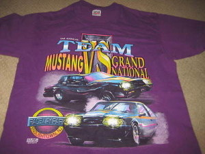 Buick Grand National vs Ford Mustang shirt 2