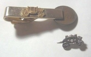 FISHER BODY TIE BAR AND LAPEL PIN