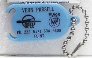 VERN PARSELL BUICK KEYCHAIN