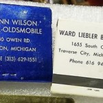 WARD LIEBLER AND GLEN WILSON BUICK DEALER BOOK MATCHES
