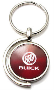 brushed metal buick logo key chain