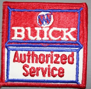 buick authorized service embroidered patch